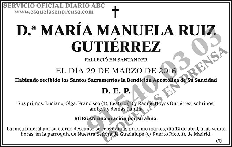 María Manuela Ruiz Guitérrez